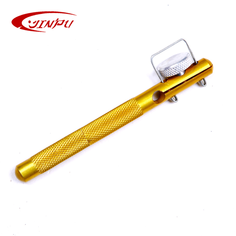 JINPU full metal dual-purpose manual hooking device tied small hook tool strand knotter fishing fishing supplies