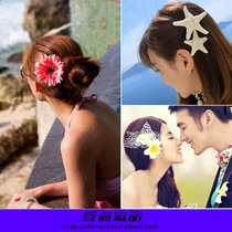 Bikini head flower beach holiday Hair Belt female flower hairpin brooch seaside travel swimsuit head Flower photo