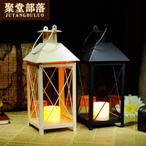 Poly Hall Tribe Romantic warm retro European candlestick wedding home Decoration iron Electronic Candle candlestick
