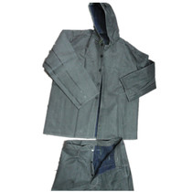 Hooded rubber acid and alkali resistant overalls acid and alkali free dust-resistant clothing acid and alkali clothing set of anti-acid clothing