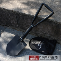 Authentic outdoor camping equipment Large engineering shovel multifunctional engineering shovel shovel three folding engineering shovel