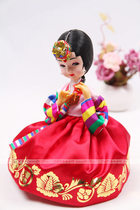 Korean original imported Korean doll Korean Craft furnishings flower Singles even high 19cm H-P01573