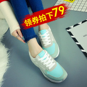 Cowhide leather sports shoes shoes shoes female Korean flat spring shoes casual shoes running shoes, students shoes