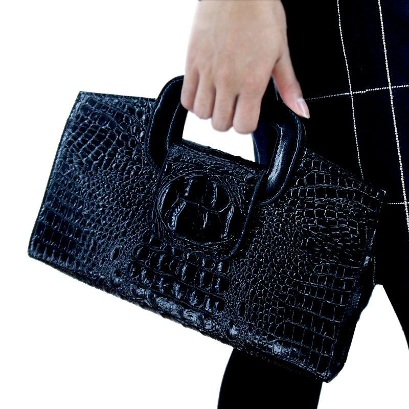 Women's Handbag 2019 New Crocodile-print Leather Handbag