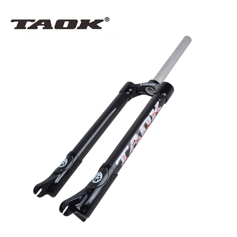 TAOK lightweight 3k carbon fiber mountain bike full carbon hard fork bike fork competitive climbing hard fork 26 inches