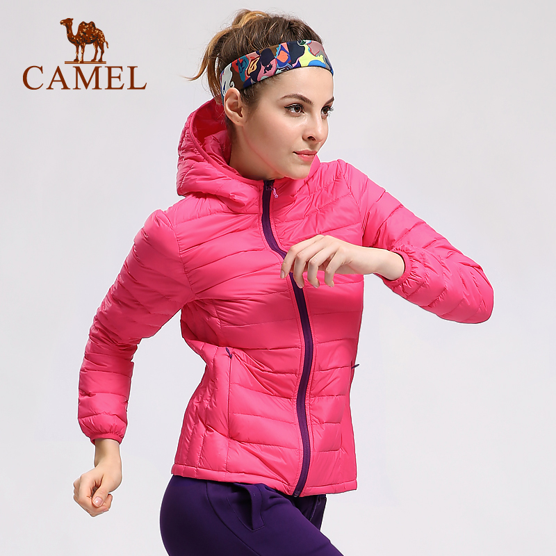 [The goods stop production and no stock]New camel outdoor sports down jackets Thin self-made male and female lovers down jackets A6W1U7115