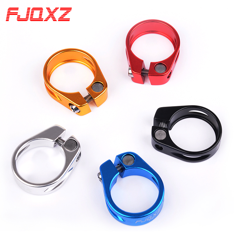 Fjqxz mountain bike bicycle aluminum alloy pipe clamp dead fly lock seatpost pipe clamp 31.8
