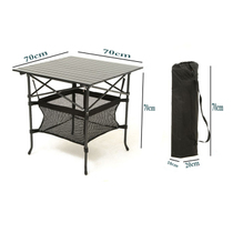 Outdoor folding tables and Chairs table portable aluminum alloy table Camping Dinner Beach Camping Publicity Table Training Table