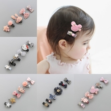 Children's hair accessories baby hairpin set baby hair accessories headdress princess crown children hairpin does not hurt sweat hair clip