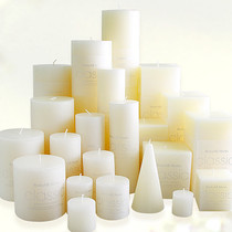 Classic Classic column Wax Ivory white yellow smokeless tasteless candle wedding hotel candle Batch 1 hair