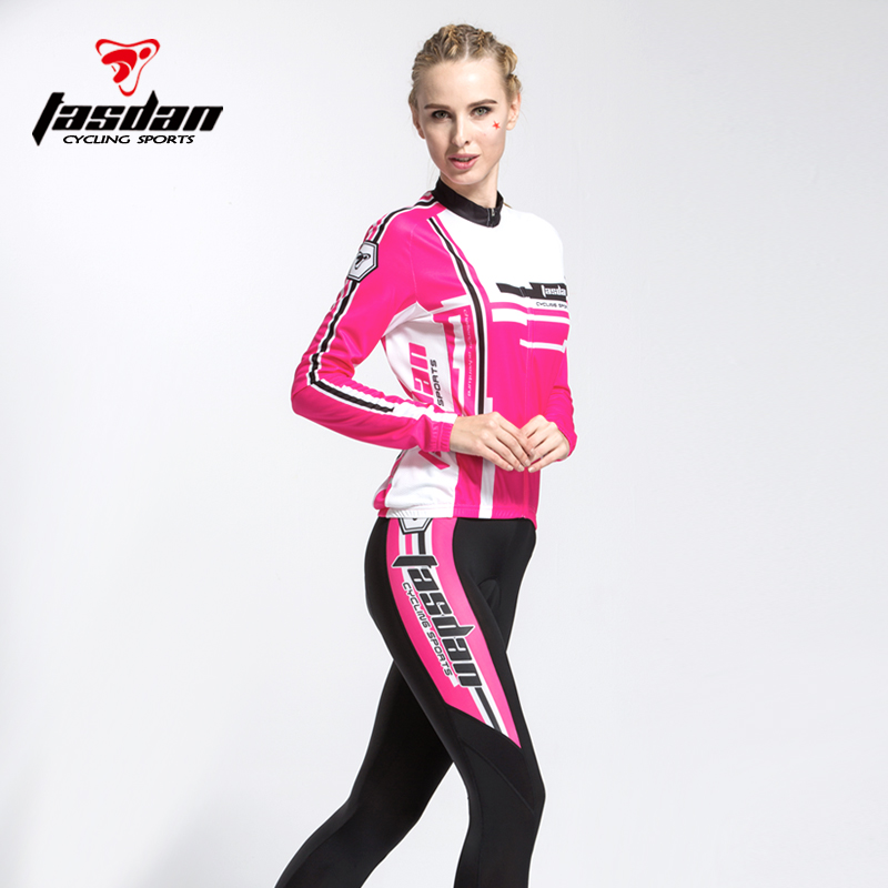 TASDAN Bicycle Equipment Women's Summer Cycling Suit Motorcycle Edition Customization of Women's Long Sleeve Cycling Suit