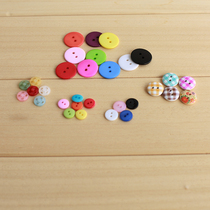 Plastic resin deducted a small round button flat button wood hidden snap buttons clothing clothes clothing accessories