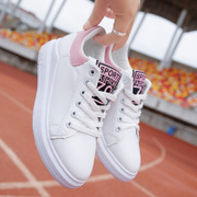 2017 new spring shoes and white shoes Korean sports shoes shoes white all-match thick soled shoes
