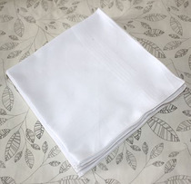 Export to Europe mens super soft 60 Satin handkerchief handkerchief handkerchief square scarf cotton white