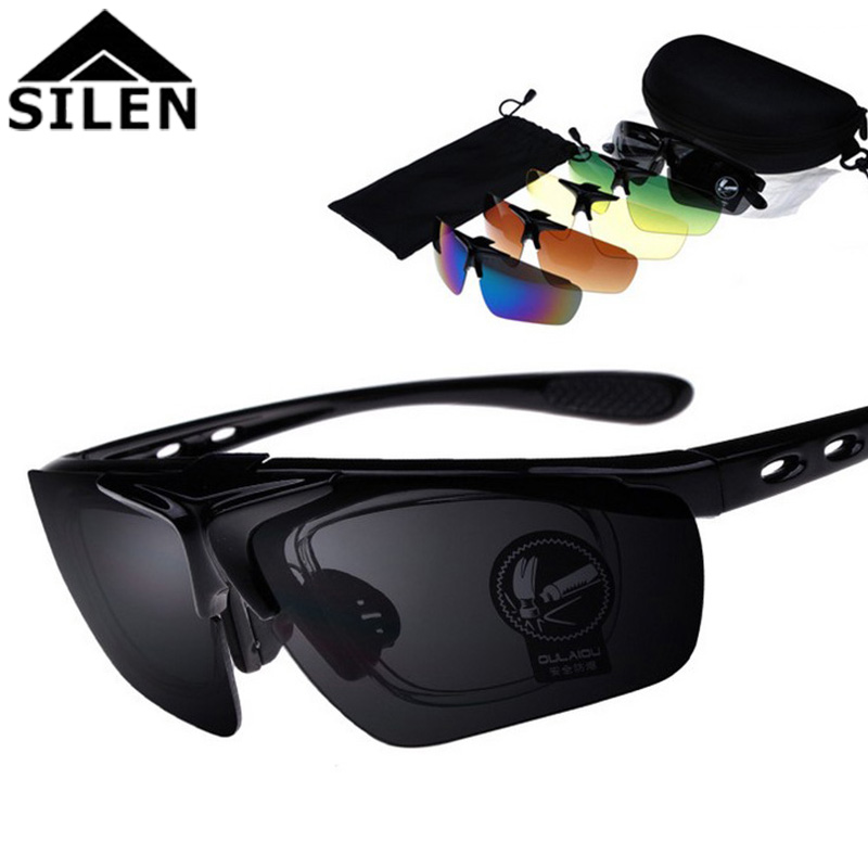 [The goods stop production and no stock]SILEN Forest New Sunglasses 5 Lens Set Outdoor Riding Glasses Flip Sports Glasses 蛤蟆墨