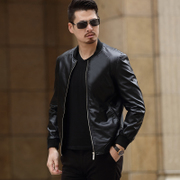 The new spring men's fashion leather collar all-match Korean age PU male slim leather jacket thin coat