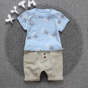 Kids summer clothes suit children 0-1-2-3-4-5 years old boys summer short sleeved new baby boom
