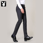 Playboy Men Slim Business Business Youth Spring Summer Casual Korean Straight Shoulder Pants Pants