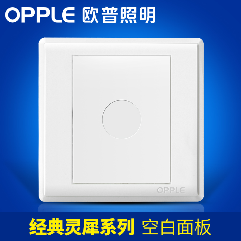 OP Lighting Blank Power Switch Button Socket Panel Wall Household Package Light Point Open-fitting Small Switch G