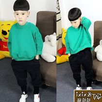 Child spring new childrens sweater cotton solid color Turtleneck Sweater for boys batwing coat kids coat