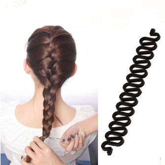 Simple hair braider lazy hairdressing tool styling twist squid bone wavy ponytail braided hair headwear