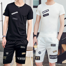 Leisure gym Adidas summer exercise clothing men's suits, running a summer clothes T-shirt pants