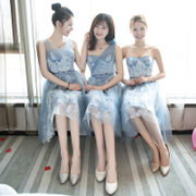 2017 new winter Bridesmaid short bridesmaid dresses in a long skirt dress dress party's sister