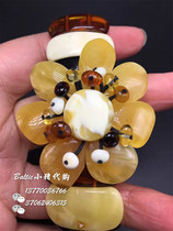 Spot Baltic Lithuanian natural Amber Queen Amber Queen multi-treasure flower hand row