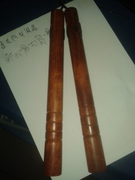 Zambia lobular red sandalwood, double sticks, wooden double sticks, collection of solid wood, actual self-defense