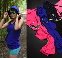 Foreign trade Spirit Womens new fast dry elastic sweat fitness running yoga sports hooded Vest ce6-h801