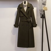 2017 new autumn and winter coat in the long section of petty light luxury temperament wool coat female 0572QB