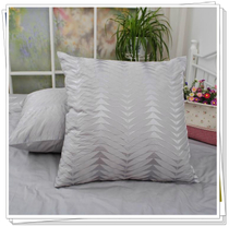 Foreign trade cotton bed products combed pure cotton satin twill embroidery cushion pillow Pillow 65*65cm and other dimensions