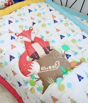 (Aika family) Korean purchase bedding baby cute little Fox on the stump quilt