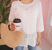 RO Korea original designs plus size womens clothing purchase 0517 summer knit sweater 31309