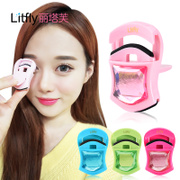Rita post Mini eyelash curler plastic portable curl not to clip eyelid with rubber pad