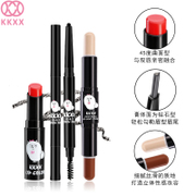 KKXX cartoon makeup three piece set take to change the default Brown eyebrow pencil and other colors note