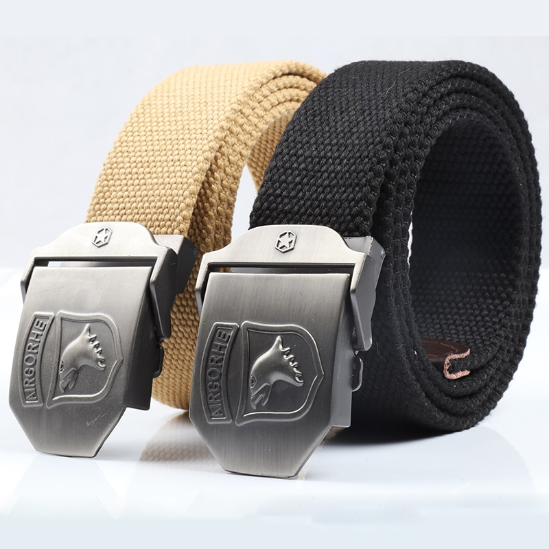 Outdoor Canvas Belt and Leisure Belt for Mountain Soldiers Nylon Braided Belt for Male Special Soldiers