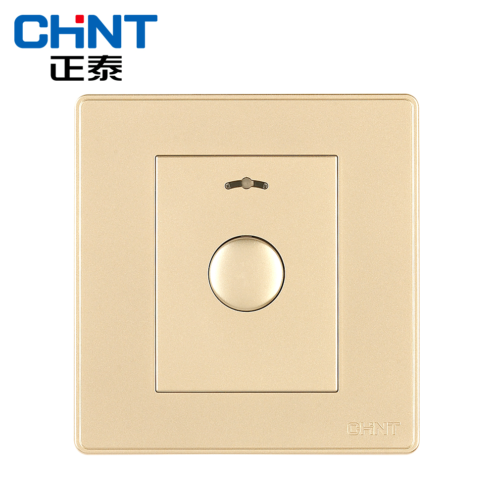 New wall switch socket NEW2D champagne gold key delay switch