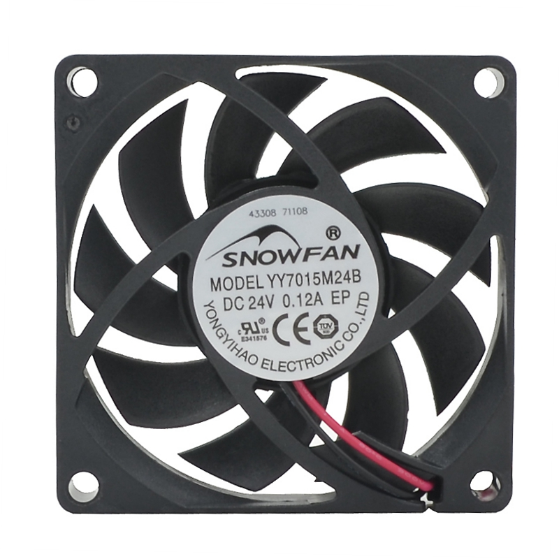 SNOWFAN 7CM 7015 24V Double Ball Industrial Cooling Fan YYY7015M24B DC Brushless Fan