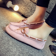 Doug shoes 2017 spring new leather matte Bow Shoes shoes women s casual lovers