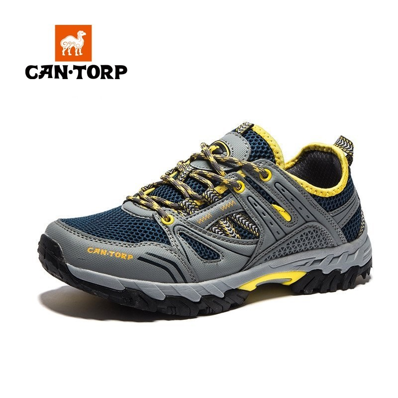 Cantorp camel upstream shoes men's shoes spring and summer breathable non-slip outdoor climbing light hiking shoes wading shoes
