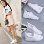 In the 2017 summer new Korean women shoes all-match lazy hollow thick bottom pedal white shoe spring