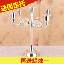 Five first 3 European candlestick wedding wedding prop Hotel Candlelight dinner home decoration Club Candle Table