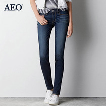 AEO hanging Ms 469 in the price American Eagle fashion white skinny jeans 0432_9161