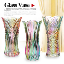 Thickened crystal glass colored vase rich bamboo lily modern fashion creative glass vase pendulum