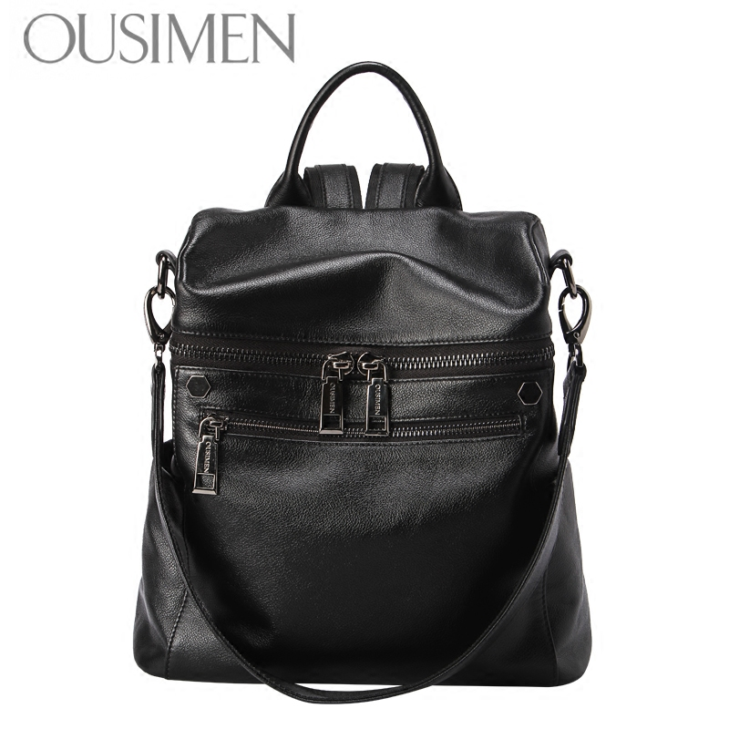 Ottoman's head leather shoulder bag female genuine leather bag middle-aged and old age leisure Korean version female bag large capacity small backpack