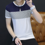 Men's T-shirt cotton casual summer new size half sleeve shirt dress Korean small summer students tide