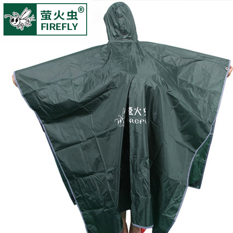 Fireflies outdoor equipment single-person multi-purpose raincoat riding can be used as a curtain mat