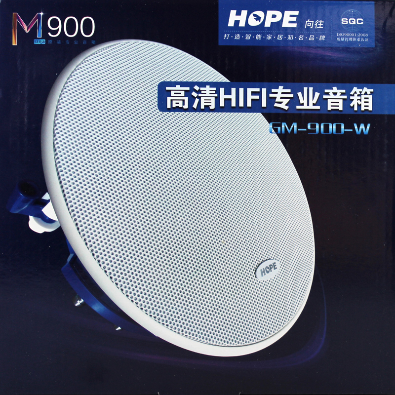 HOPE/ Longing for GM900-W Ceiling Speaker Ceiling Speaker Coaxial Audio Fixed Resistance Crossover HIFI Class