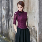 Short classic dress coat lace summer new skinny fashion dress costume, Chinese modified Ms.